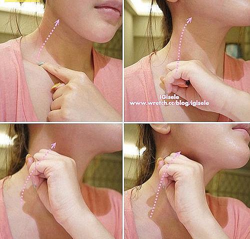 วิธีการนวดต่อมน้ำเหลืองบนใบหน้า